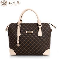Danny BEAR limited edition plaid handbag coffee plaid women's messenger bag for db 7720 - 9