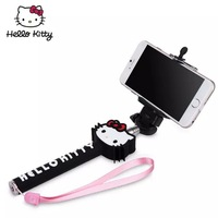 Hello kitty new Wireless Bluetooth Mobile Phone Monopod Selfie Stick Tripod Handheld Monopod for iPhone IOS Android
