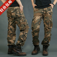 men Loose Camouflage pants  military army men outdoors overalls trousers pocket pants trousers plus size plus size