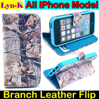 Luxury Flip Wallet PU Leather Case Tree Branch Printing Cover Capinhas Capa Para for iPhone 4 4s 5 5s 5c 6 4.7 iPhone6 Plus 5.5""