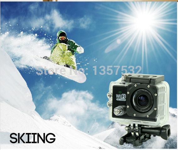 UPS shipping Wifi sport camera Sj6000+32G card+one more battery+charger sports camera dv gopro hero for 3 wifi kamera digital(China (Mainland))