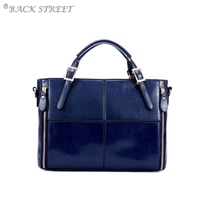 Genuine Leather Women Handbags Shoulder Bags Cowhide Messenger Bag Purse Bolsas Side Zip Pocket(China (Mainland))