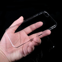 """For Apple iPhone 6 plus 5.5"""" TPU Slim Transparent Crystal Clear Hard Back Cover Case free shipping"""