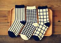 Free shipping 1lot=6pairs=12pcs, brand happy socks men socks, british style cotton in tube socks