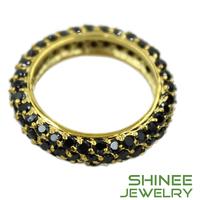 Free shipping black diamond 18k gold engagement ring high quality diamond wedding bands