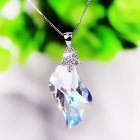 Classic Austrian crystal Pendant original jewelry 925 silver chain Crystal necklace fashion jewelry for birthday gifts