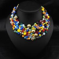 Wholesale Brand Jewelry Fashion Christmas Perfume Women Accessories Handmade Colorful Collar Luxury Statement Choker Necklace