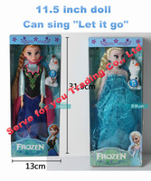 "Frozen Princess Elsa singing ""Let it go"" Frozen Musical Doll 11.5 inch Frozen Elsa frozen party toy Girl Christmas Gifts"