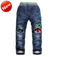 Children Clothing Brand KK-Rabbit Jeans Fit 2-7Yrs Baby Boys Pants Winter Trousers Fashion Cartoon Jeans Boys Cold 1485