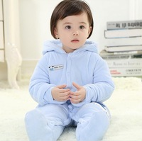 New 2014 Baby Winter Romper cotton-padded One Piece Newborn baby girl Warm jumpsuit Autumn Fashion baby's wear Kid Climb Clothes