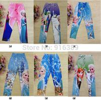 Wholesale-FROZEN Legging Kids Girls Olaf Frozen Elsa Anna cartoon leggings