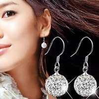 1Pair Free Shipping Crystal Earrings Fashion Rhinestone Drop Dangle Earrings for Women Jewelry Accessories