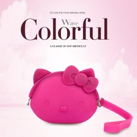 hot-selling cute cat head silicone zero wallet mobile cartoon cents package