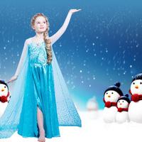 2015 children's wear snow country dress cape princess dress color small children dress fashionable wedding dress