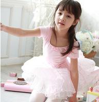 Cotton Yarn Gymnastics Ballet Leotard Dress for Girls Pink Ballet Tutu Dance Birthday Party Dresses Children Women Costume LD017