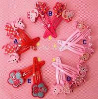 Wholesale girls Peppa pig Doll Metal hair Barrette Head Hair clips hairgrips Christmas gift accessories Hairpin Headwear RJ3050