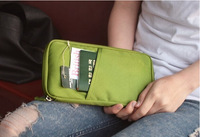 NEW WELL Travel Passport ID Card Key Hand Zipper Case Bag Pouch Wallet HJ-07 Freeshipping
