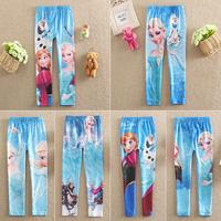 2015 New Baby Girls Frozen Leggings/Kids Frozen Pants/3-10 Year Girl Frozen Legging/Clothes Trousers/One Piece Retail
