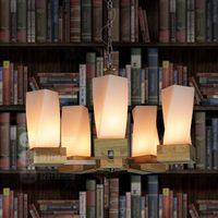 European designers living room lamp lighting minimalist creative American restaurant idyllic bedroom timber glass chandelier