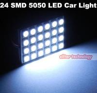 Wholesale T10 BA9S 24 SMD 5050 LED Car Light 12V LED Reading Panel Light Car Styling 500PCS/lot