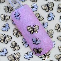 wholesale 20pcs/lot fesitive gifts cartoon butterfly nail stickers girls beauty 3D nail sticker BLE736D