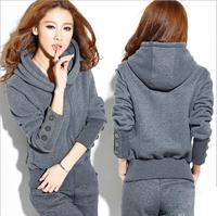 2014 Hot Sale Women's Casual Suit,Fashion Thick Warm Sport Suit For Woman,Fleece&Trousers,Winter,Drop Shipping,WAT358