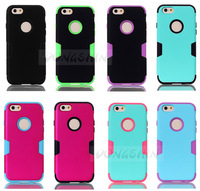 3-Piece Hybrid High Impact Case Cover for iphone 6 Silicone Case