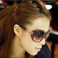 Star all-match glasses polarized sunglasses women's vintage big box fashion