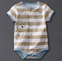 Newborn Baby Boys Girls Cartoon romper Short sleeves bodysuits Infants one-piece bodysuit suit 0-24M