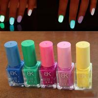 5pcs/set 20 Candy Colors Nail Lacquers Fluorescent Luminous Neon Glow In Dark Varnish Nail Art Polish Enamel