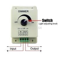 10pcs/lot 12V 8A 96W Adjustable Brightness Controller/ Manually Rotation LED Dimmer