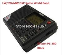 Original Tecsun PL-380 PL380 radio Digital PLL Portable Radio FM Stereo/LW/SW/MW DSP world band Receiver Black/Grey/Silver