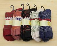 Wholesale and retail goods  floral socks warm winter thick wool socks in tube socks ladies socks cotton cartoon images