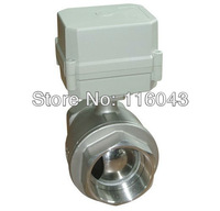 TF Electric Water Valve DN40 Normal Closed Valve 2-Way Stainless Steel 11/2'' Full Port TF40-S2-C AC/DC9-24V 10Nm On/Off 15 Sec