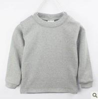 Wholesale: 20pcs/lot Winter children sweatshirt 100% cotton candy color thickening top 2014 basic shirt