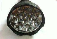 Free Shipping TrustFire 11000 Lumen 9x CREE XM-L T6 LED Flashlight Torch Lamp+ 3x TrustFire 26650 battery  charger