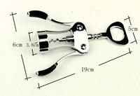 Zink alloy silver wine opener