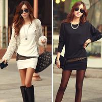 Fashion Sexy Vestidos Women Ladies Elegant Winter Bottom Slim Knit Knitwear Pullover Sweater Casual Plus Size Dress Alipower