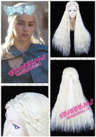 Movies Game of Thrones Daenerys Targaryen Wavy Anime Braid Cosplay Wig COS no Lace Front Japanese synthetic fibre wigs