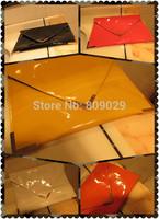 Free shipping! 2014 new glossy envelope bag clutch bag women's handmade new arrival fashion handbags  fashion bag