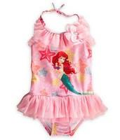 2014 mermaid princess UV stop swimwear Children Girls Swimsuit Bikini One Piece Swim wear Bodysuit cartoon Swimming Fins