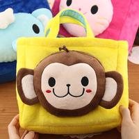 Rabbit animal plush bag tote bag lunch bag lunch box bag child tote bag