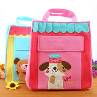 Rabbit fabric cartoon child cloth handbag shopping bag shoulder bag child bag