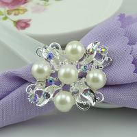 100pcs/lot Pearl Napkin Ring Serviette Holder Wedding Party Banquet Table Dinner Decor Adornment