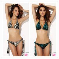 Leopard Print Push Up Padded Swimwear Bikinis Set Bathing Suit Sexy Brand Swimsuits For Women Straps Biquini 2014 Drop Shipping
