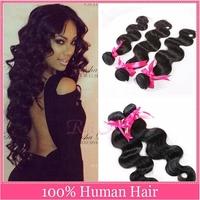 Free Shipping Grade 5A 10''~28'' Loose Wave 3 Bundle/lots Queen Weave Beauty Virgin Brazilian Hair 5A Grade No Corn-Chip Smell