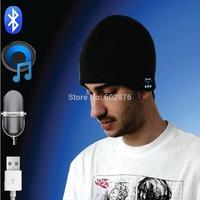 10PCS/lot,DHL Freeshipping Wireless Bluetooth Music Beanie Hat Cap Stereo Speakers & Music Hands Free Winter Running Hat