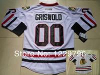 Wholesale Men's Chicago Blackhawks Hockey Jerseys #00 Clark Griswold Jersey Road White Throwback Vintage CCM Stitched Jerseys