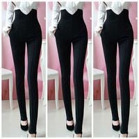 Hot New Arrival Women Fashion High Waist Black Pants Female Plus Size Office Lady Formal Pencil Pants AY852294