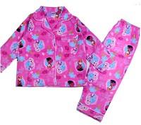 Hot girls cartoon frozen pajamas suits kids long sleeve printed homewear children's princess leisure clothing set in stock